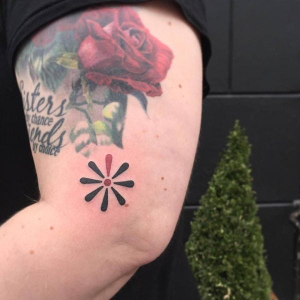 Knæk cancer tatto