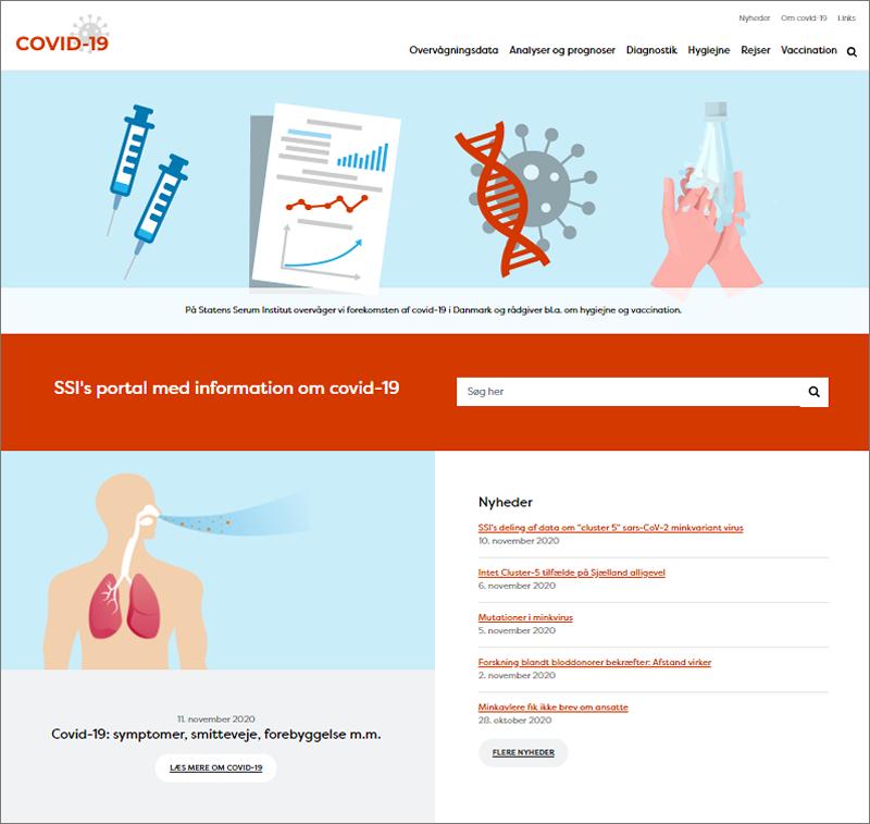 Statens Serum Institut lancerer ny hjemmeside om covid-19