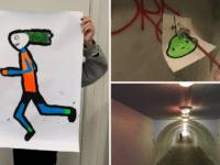 Skolebørn giver nyt liv til gangtunnel